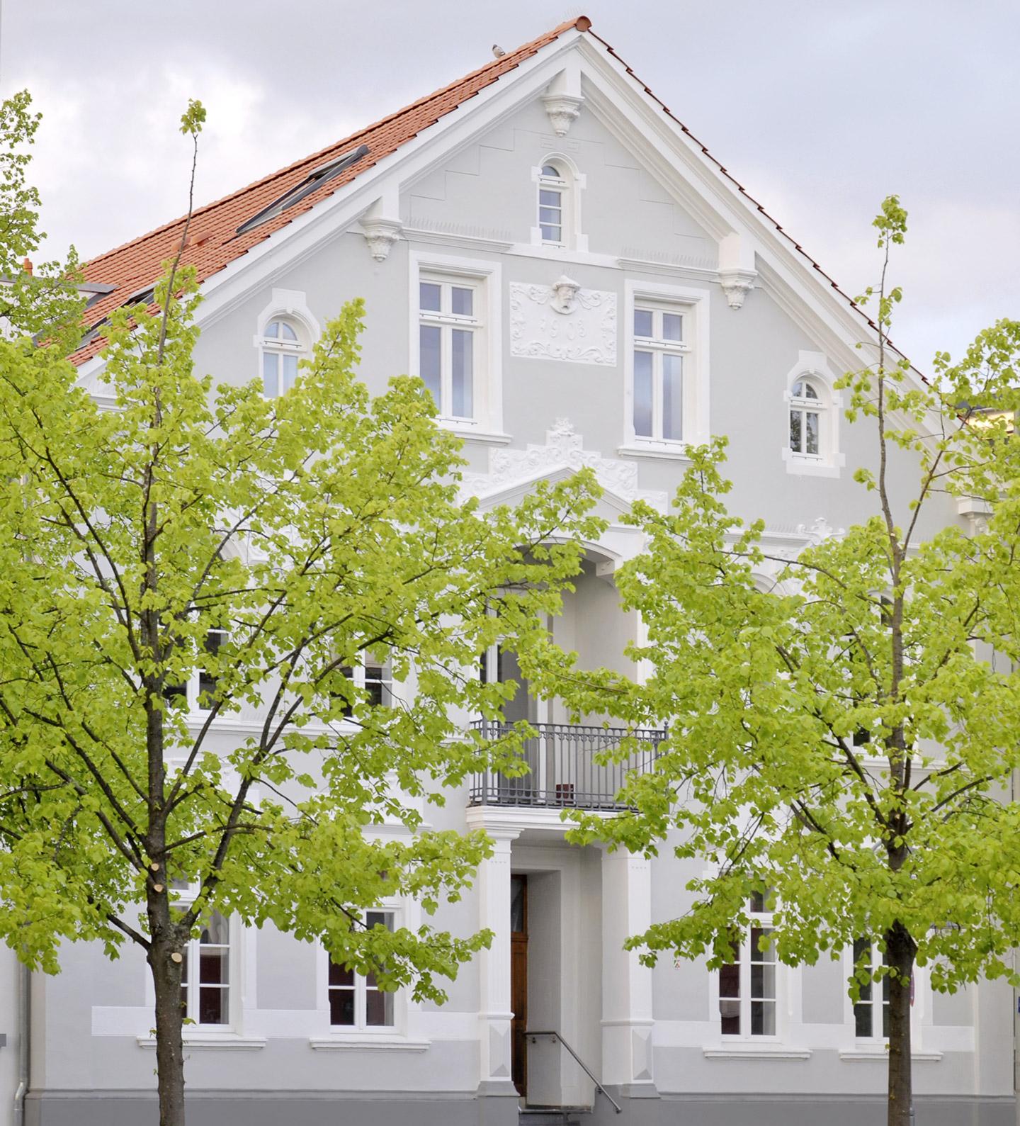 Fassade der Königsvilla.